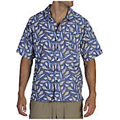 ExOfficio Men's Fish Story Print Short Sleeve Shirt