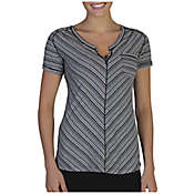 ExOfficio Women's Go-To Pocket Stripe Short Sleeve Top