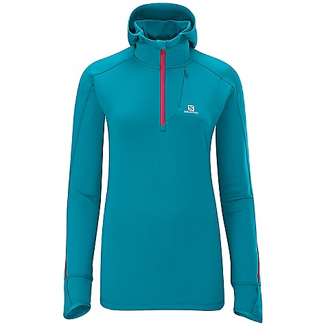 photo: Salomon Women's Swift Midlayer Hoody long sleeve performance top
