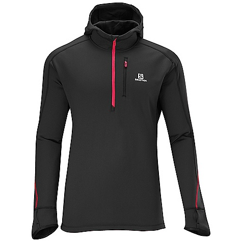 photo: Salomon Men's Swift Midlayer Hoody long sleeve performance top