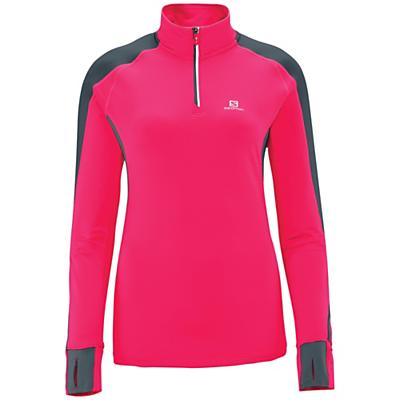 Salomon Women's Trail Runner Warm Long Sleeve Zip Tee
