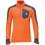 Salomon Men's Trail Runner Warm Long Sleeve Zip Tee