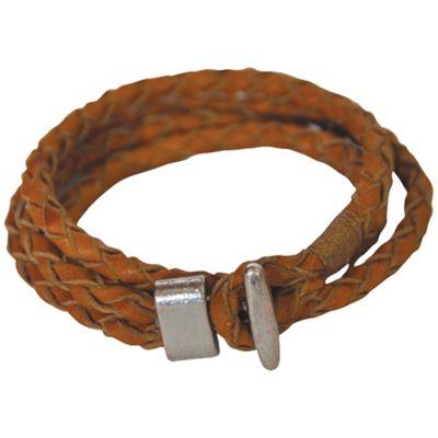 Mountain Khakis Double Loop Braided Leather Bracelet