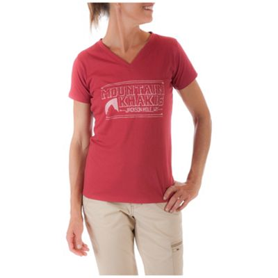 Mountain Khakis Women's Logo Sketch SS V Neck T Shirt