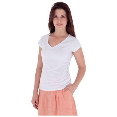 Royal Robbins Women's Essential Tencel Ruched SS Top
