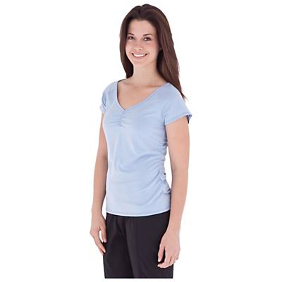 Royal Robbins Women's Essential Tencel Ruched Short Sleeve Top