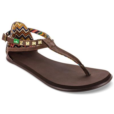 Sanuk Women's Gilded Girl T Strap Sandal