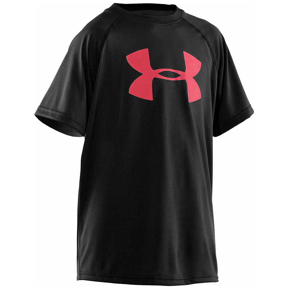 Under Armour Boys' UA Tech Big Logo SS Tee - Medium - Black / Red