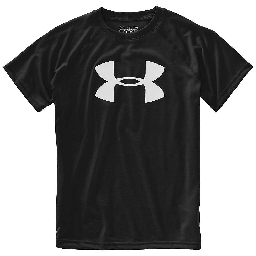 Under Armour Boys' UA Tech Big Logo SS Tee - Small - Black / White