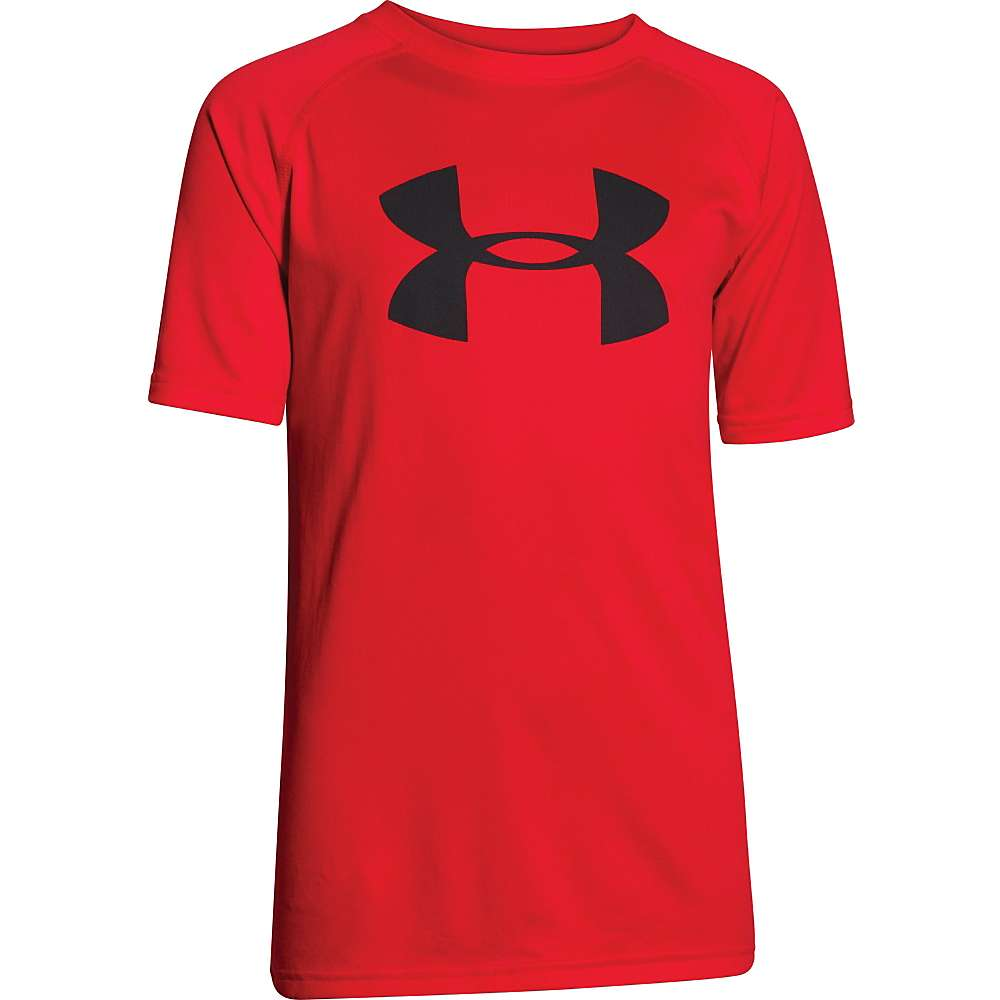Under Armour Boys' UA Tech Big Logo SS Tee - Large - Risk Red / Black