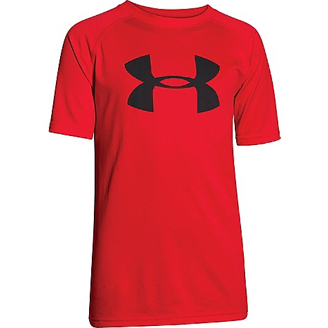 Under Armour Boys' UA Tech Big Logo SS Tee Risk Red / Black