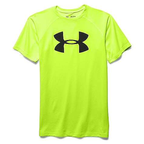 Under Armour Boys' UA Tech Big Logo SS Tee Fuel Green / Black