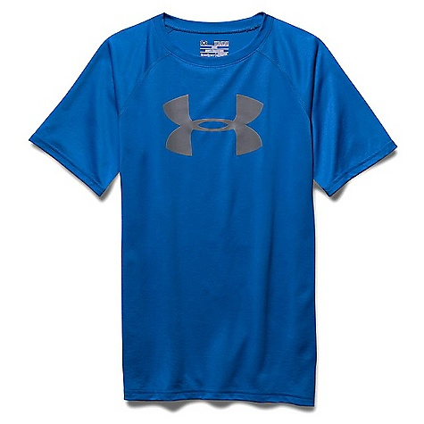 Under Armour Boys' UA Tech Big Logo SS Tee Ultra Blue / Graphite