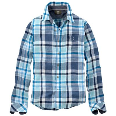 Timberland Men's Earthkeepers Long Sleeve Plaid Linen Shirt