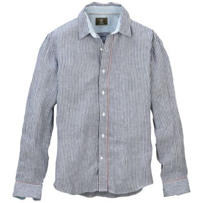Timberland Men's Earthkeepers Long Sleeve Stripe Linen Shirt