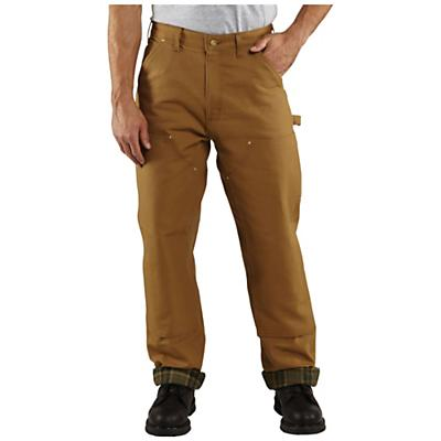 Carhartt Men's Firm Duck Double-Front Dungaree Flannel-Lined Pant