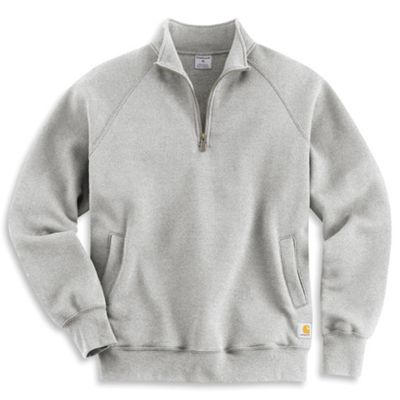 Carhartt Men's Midweight Quarter Zip Mock Neck Sweatshirt