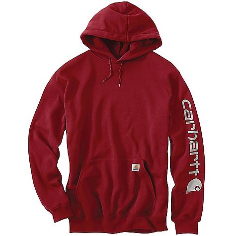 Carhartt Men's Midweight Signature Sleeve Logo Hooded Sweatshirt 2791107