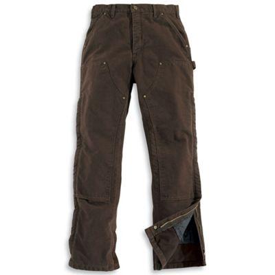 Carhartt Men's Sandstone Waist Overall Quilt Lined Pant