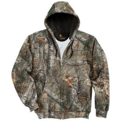 Carhartt Men's Midweight WorkCamo Hooded Zip-Front Sweatshirt