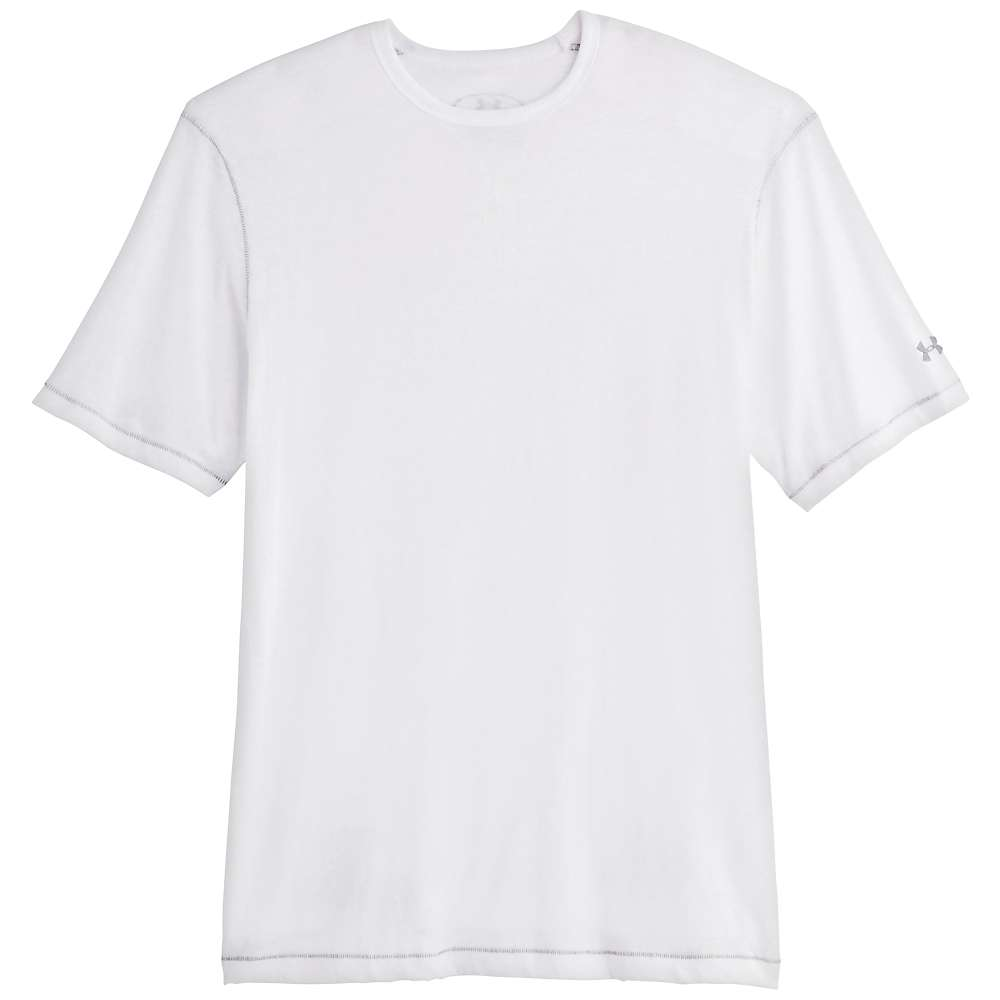 Under Armour Men's Charged Cotton Tri Blend SS Crew Tee - XXL - White / Steel