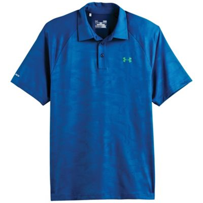 Under Armour Men's coldblack Embossed Polo Tee