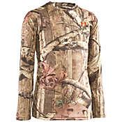 Under Armour Boys' Evo HG Camo Long Sleeve Top