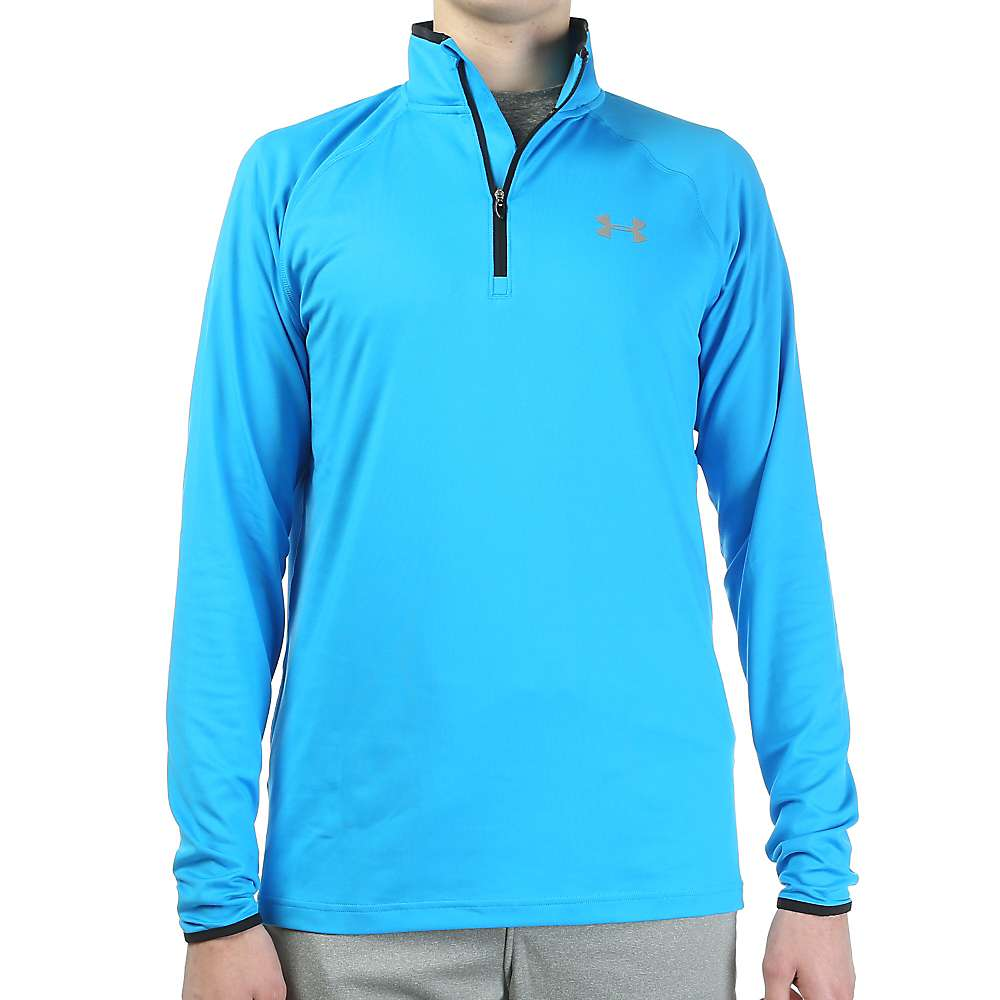 Under Armour Men's Heatgear Flyweight Run 1/4 Zip Jacket - XL - Elctrc Blue / Black