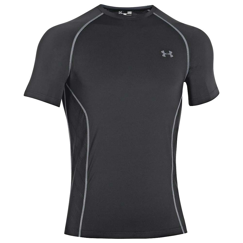 Under Armour Men's Heatgear Sonic Armourvent SS T Shirt - XL - Black / Steel