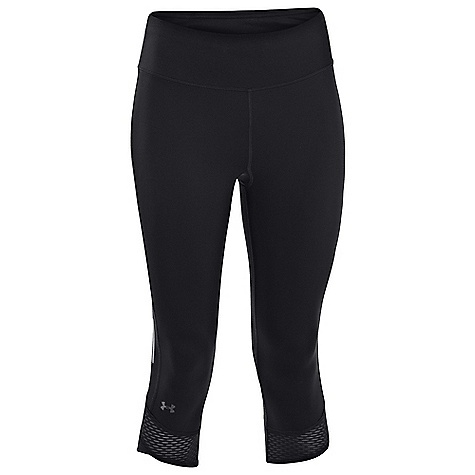 Under Armour Women's Fly By Compression Capri Black / Black / Reflective