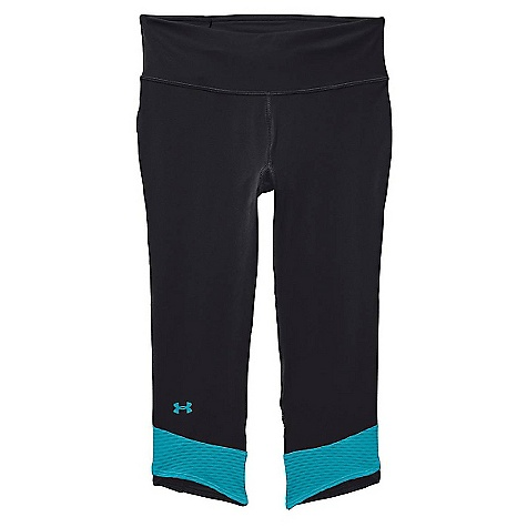 Under Armour Women's Fly By Compression Capri Black / Pacific / Reflective