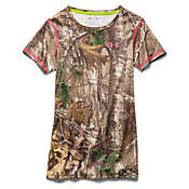 Under Armour Women's UA Scent Control EVO HG Camo Short Sleeve Tee