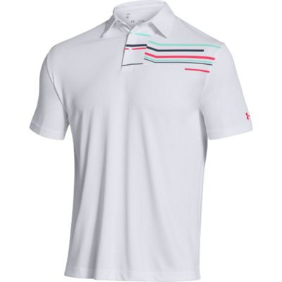 Under Armour Men's UA Broken Stripe Streak Polo