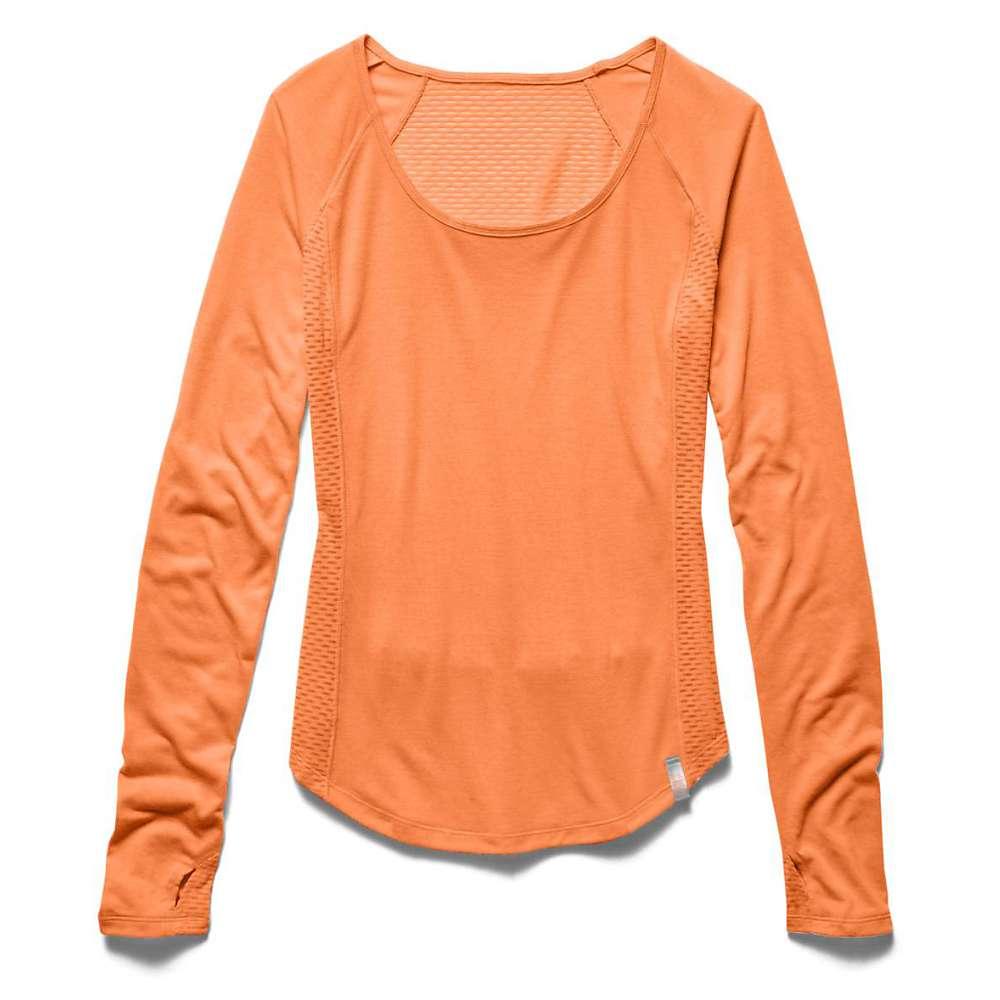 Under Armour Women's UA Fly By Longsleeve Top - XS - Cyber Orange / Reflective