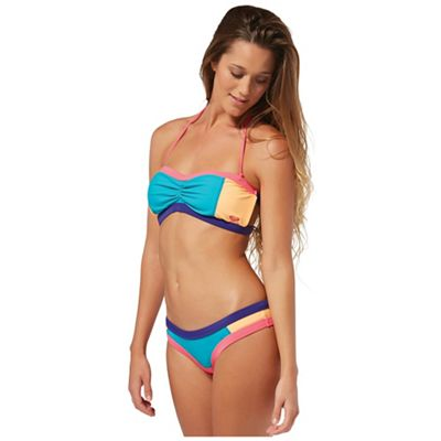 Roxy Women's Shirred Bandeau Bikini Top