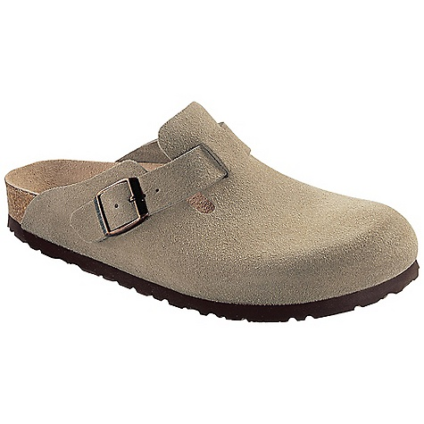 Birkenstock Boston Soft Footbed Clog Taupe Suede