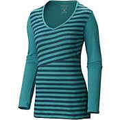 Mountain Hardwear Women's DrySpun Stripe Long Sleeve V Neck T