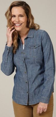 Royal Robbins Women's Cheyenne Chambray Long Sleeve Top