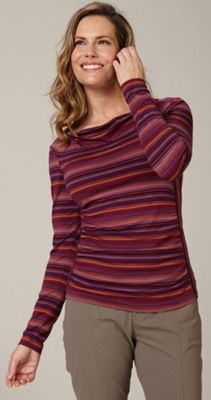 Royal Robbins Women's Essential Tencel Stripe Cowl Neck Top