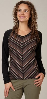 Royal Robbins Women's Essential Tencel Stripe V Neck Top
