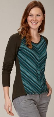 Royal Robbins Women's Essential Tencel Stripe V Neck Top
