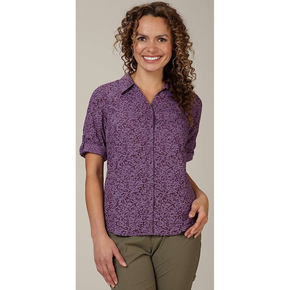 Royal robbins women 39 s lt expedition 3 4 sleeve print top for Royal robbins expedition shirt 3 4 sleeve women s