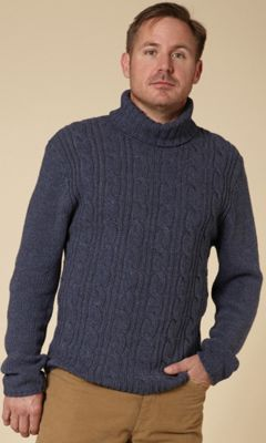 Royal Robbins Men's Marble Cable Turtleneck Top