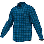 Adidas Men's Hiking Check Long Sleeve Shirt