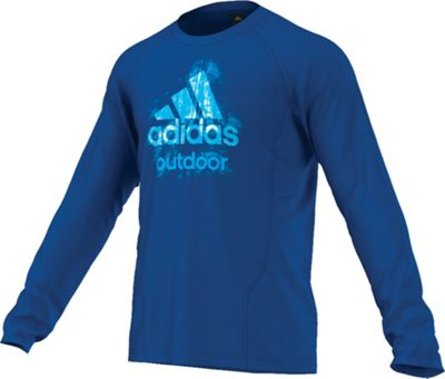 Adidas Men's Hiking Dri Release Logo Long Sleeve Tee
