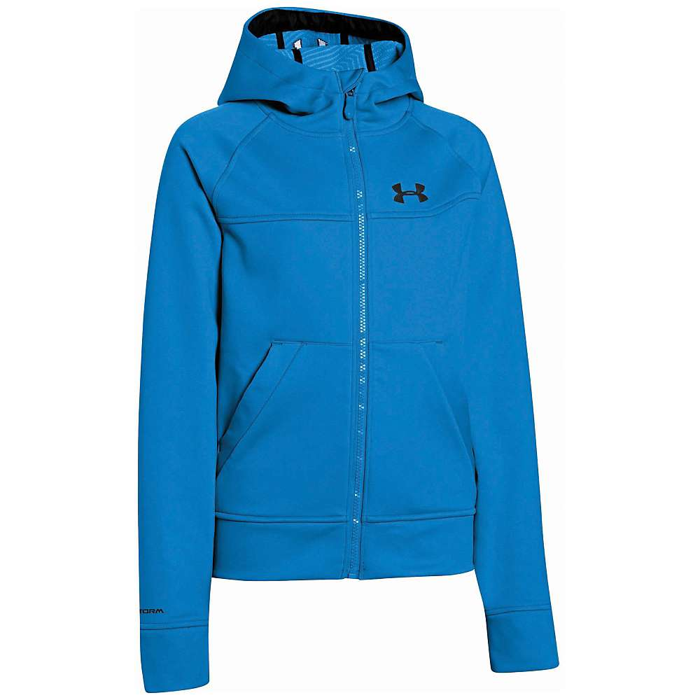 Under Armour Boysu0026#39; ColdGear Infrared Softershell Hooded Jacket