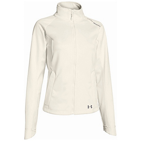 Under Armour Women's UA ColdGear Infrared Softershell Jacket Ivory / Steeple Gray