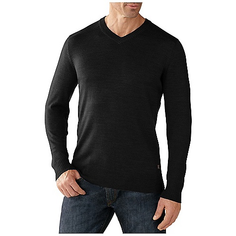 Smartwool Men's Kiva Ridge V Neck Sweater Charcoal Heather