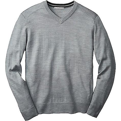 Smartwool Men's Kiva Ridge V Neck Sweater Silver Grey Heather