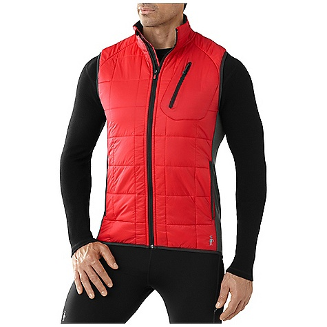 Smartwool Men's PhD SmartLoft Divide Vest: Save 52% Off - On Sale. Free Shipping. Smartwool Men's PhD SmartLoft Divide Vest FEATURES of the Smartwool Men's PhD SmartLoft Divide Vest SmartLoft wool insulation provides warmth and thermoregulation even when wet DWR finish for protection from the elements MerinoMax knit back for ease of movement and breathability Merino lined front panel and collar manages sweat and is antimicrobial Secure zip chest pocket with logo slider and Durawelt grommet for media cord routing Center front zipper with semi-locking logo slider, draft flap, and chin guard